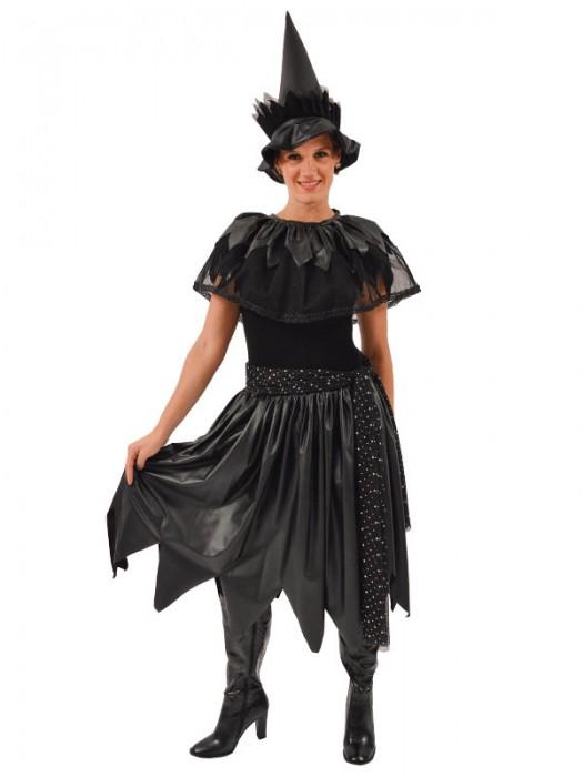 Γυναικεία Αποκριάτικη Στολή Μάγισσα (μαύρη)